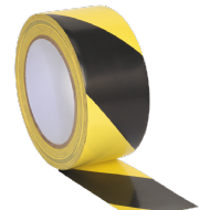 Sealey Hazard Warning Tape 50mm x 33mtr Black/Yellow